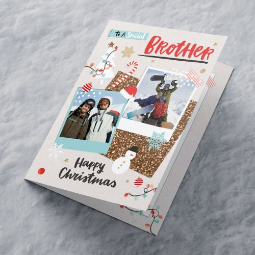 Picture of: Multi Photo Upload Christmas Card - Special Brother | Secret Santa Generator Gifts