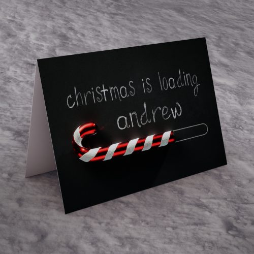 Picture of: Personalised Christmas Card - Christmas Is Loading | Secret Santa Generator Gifts