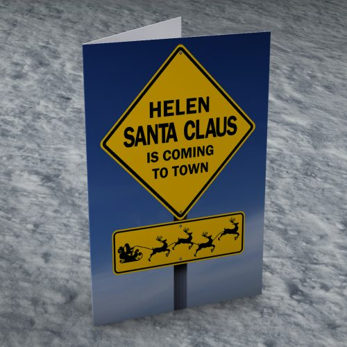Picture of: Personalised Christmas Card - Coming To Town | Secret Santa Generator Gifts